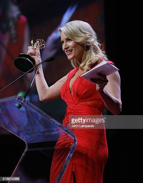 Alice Gainer ttends 59th Annual New York Emmy Awards at Marriott Marquis Times Square on March 19 2016 in New York City