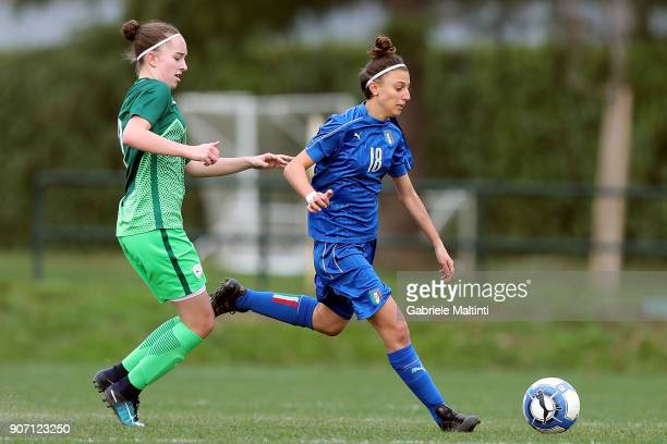 Alice Giai of Italy U16 women in action during the U16 Women friendly match between Italy U16 and Slovenia U16 at Coverciano on January 19 2018 in...