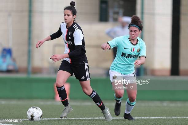 Alice Giai of Juventus Women U19 in action during the Viareggio Women's Cup match between Juventus U19 and FC Internazionale U19 on February 13 2020...