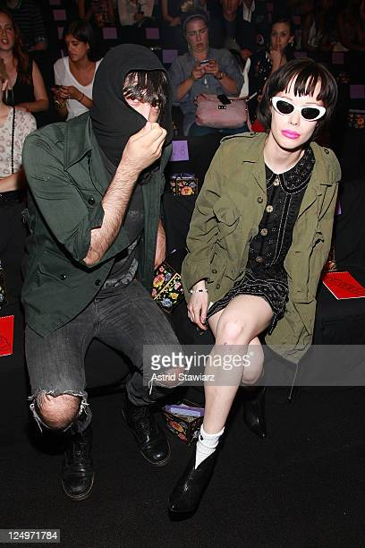 Alice Glass of Crystal Castles attends the Anna Sui Spring 2012 fashion show during MercedesBenz Fashion Week at The Theater at Lincoln Center on...