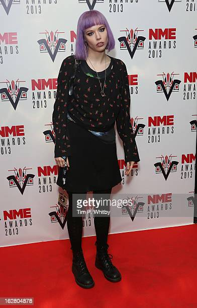 Alice Glass of Crystal Castles attends the NME Awards 2013 at the Troxy on February 27 2013 in London England