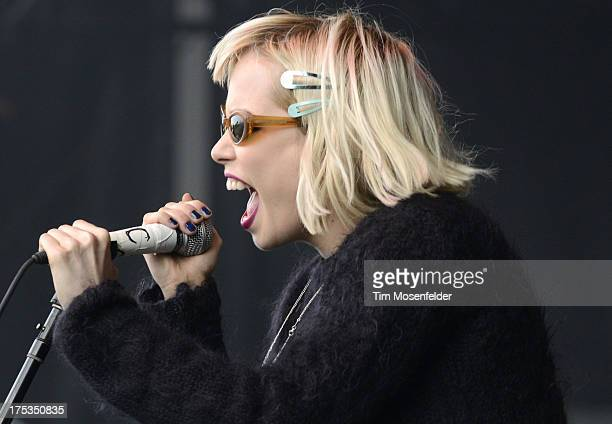 Alice Glass of Crystal Castles performs as part of Lollapalooza 2013 at Grant Park on August 2 2013 in Chicago Illinois