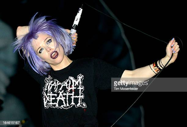 Alice Glass of Crystal Castles performs at the Ultra Music Festival on March 24 2013 in Miami Florida