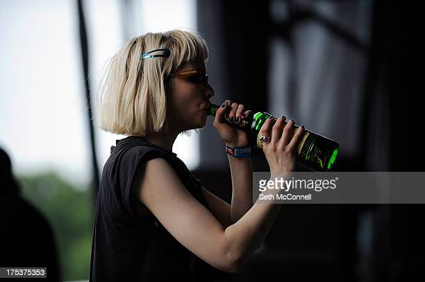 Alice Glass of Crystal Castles performs during Lollapalooza 2013 at Grant Park on August 2 2013 in Chicago Illinois