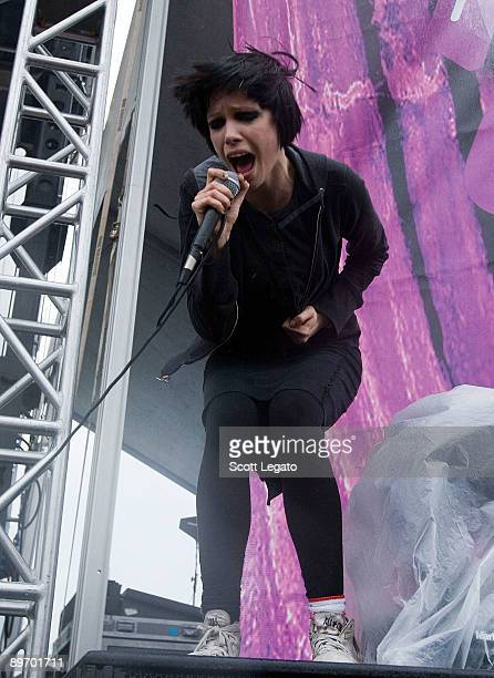 Alice Glass of Crystal Castles performs during the 2009 Lollapalooza Music Festival at Grant Park on August 7 2009 in Chicago Illinois