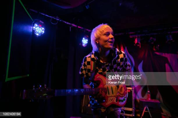 Alice Go of Dream Wife performs at Whelan's on October 17 2018 in Dublin Ireland