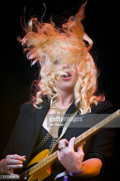 Alice Gold performs live on the Other Stage during the Glastonbury Festival at Worthy Farm Pilton on June 25 2011 in Glastonbury England The festival...