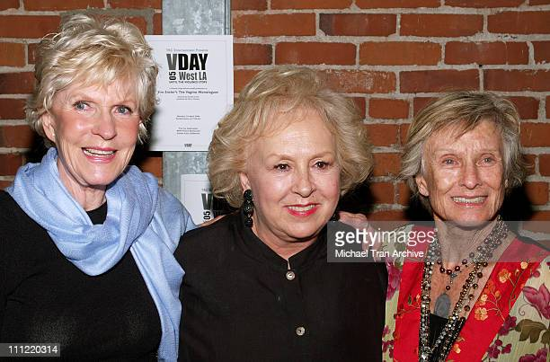 Alice Hirson Doris Roberts and Cloris Leachman during VDay West LA 2006 Benefit Production of Eve Ensler's 'The Vagina Monologues' Show and After...