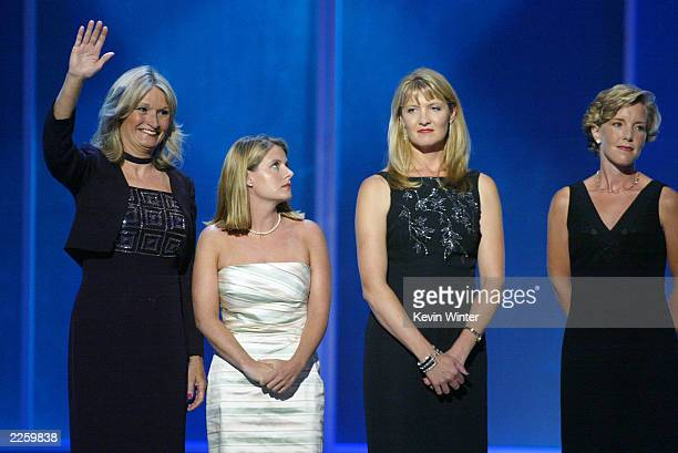Alice Hoglan Lyz Glick Deena Burnett and Lisa Beamer received Arthur Ashe Courage Awards at ESPN's 10th Annual Espy Awards at the Kodak Theatre in...