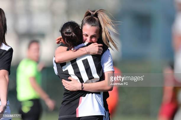 Alice Ilaria Berti of Juventus Women U19 celebrates after scoring a goal during the Viareggio Women's Cup match between Juventus U19 and FC...