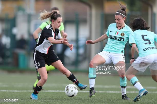 Alice Ilaria Berti of Juventus Women U19 in action during the Viareggio Women's Cup match between Juventus U19 and FC Internazionale U19 on February...