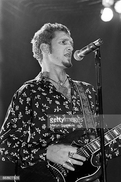Alice In Chains singer Layne Staley performs on stage at Brixton Academy London United Kingdom 1993