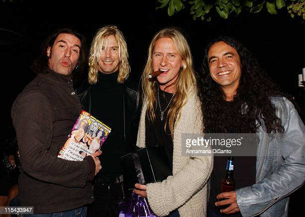 Alice in Chains with Duff Mc Kagen during Jerry Cantrell's Birthday Party in Los Angeles March 18 2006 at Private Residence in Los Angeles California...