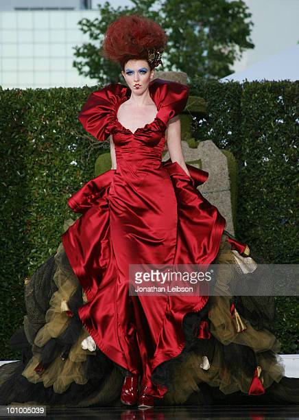Alice in Wonderland inspired red carpet gown fashion show for Disney's 'Alice In Wonderland' Costume Exhibition Opening Night Gala at FIDM Museum...