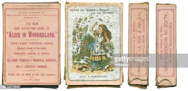 alice im wunderland spielkarten 1898 - john tenniel stock-fotos und bilder