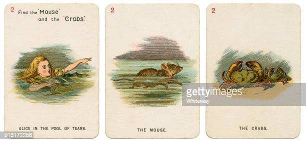 Alice In Wonderland playing cards 1898 Set 2
