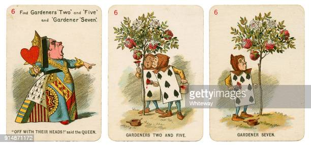 Alice In Wonderland playing cards 1898 Set 6