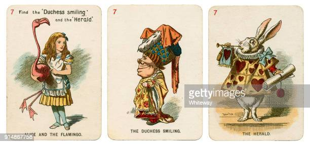 Alice In Wonderland playing cards 1898 Set 7