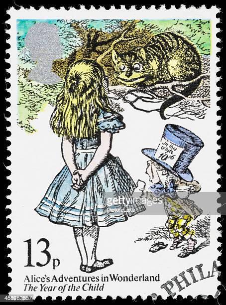 UK Alice in Wonderland sello postal