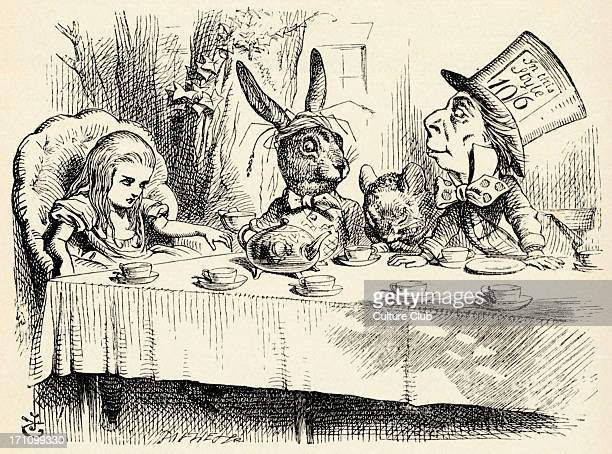 Alice in Wonderland the Mad Hatter's Tea Party from the book by Lewis Carroll English children's writer and mathematician 27 January 1832 14 January...