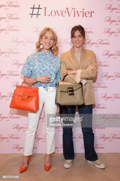 Alice Isaaz and Laura Isaaz attend Roger Vivier #LoveVivier Book Launch Cocktail on May 24 2018 in Paris France