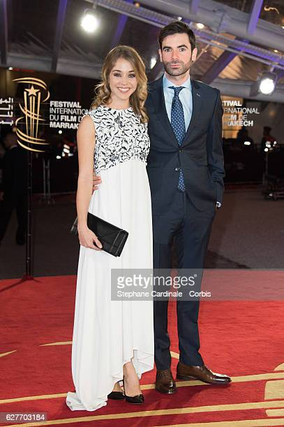 Alice Isaaz and Paul Cucuron attend the 16th Marrakech International Film Festival on December 4 2016 in Marrakech Morocco