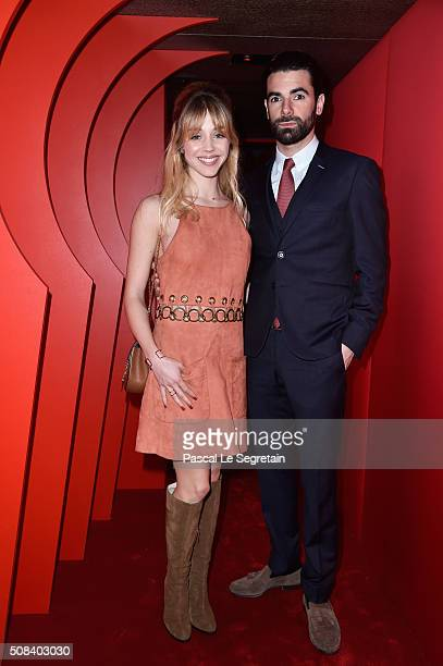 Alice Isaaz and Paul Cucuron attend the Chaumet Party At Chaumet Ephemeral Museum on February 4 2016 in Paris France