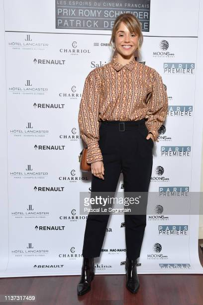 """Alice Isaaz attends the 37th """"Romy Schneider And Patrick Dewaere Awards"""" Nominee Luncheon At Cinema Le Mac Mahon on March 21, 2019 in Paris, France."""