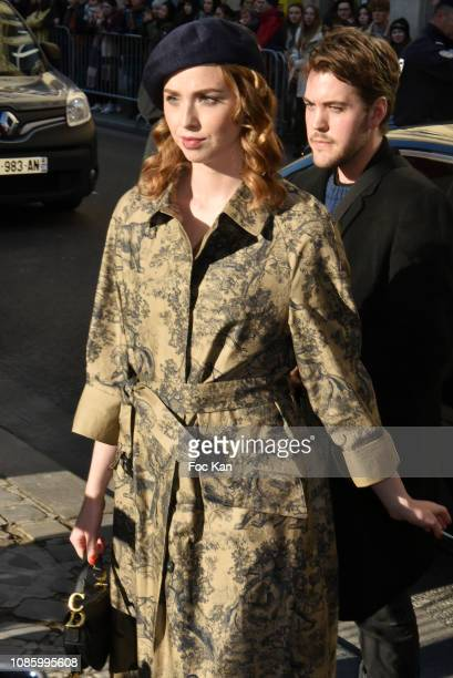 Alice Isaaz attends the Christian Dior Haute Couture Spring Summer 2019 show as part of Paris Fashion Week on January 21 2019 in Paris France