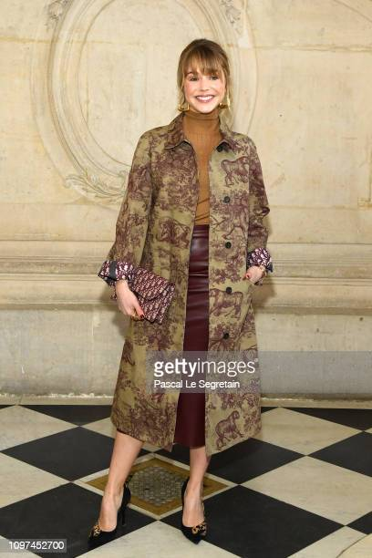 Alice Isaaz attends the Christian Dior Haute Couture Spring Summer 2019 show as part of Paris Fashion Week on January 21, 2019 in Paris, France.