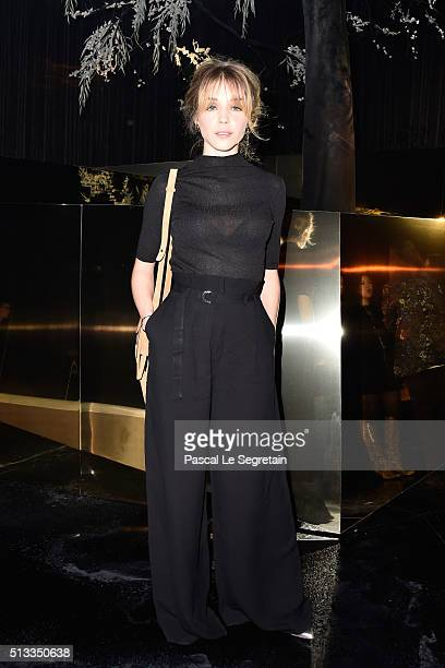 Alice Isaaz attends the HM show as part of the Paris Fashion Week Womenswear Fall/Winter 2016/2017 on March 2 2016 in Paris France