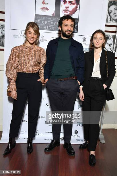 Alice Isaaz William Lebghil and Diane Rouxel attend the 37th Romy Schneider And Patrick Dewaere Awards Nominee Luncheon At Cinema Le Mac Mahon on...