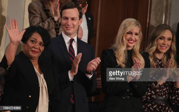 Alice Johnson special guest of President Trump Jared Kushner Ivanka Trump and Lara Trump attend the State of the Union address in the chamber of the...