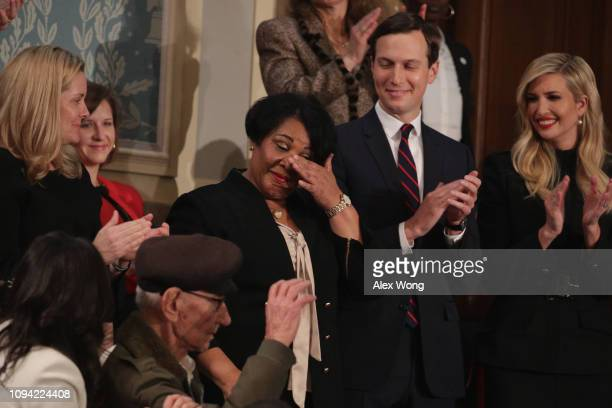 Alice Johnson special guest of President Trump with Jared Kushner and Ivanka Trump attend the State of the Union address in the chamber of the US...