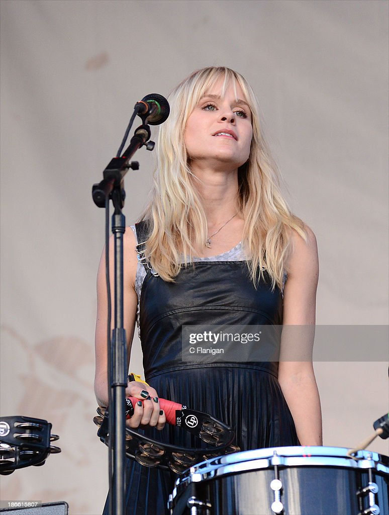 Alice Katz of Youngblood Hawke performs during the 2013 Voodoo Music