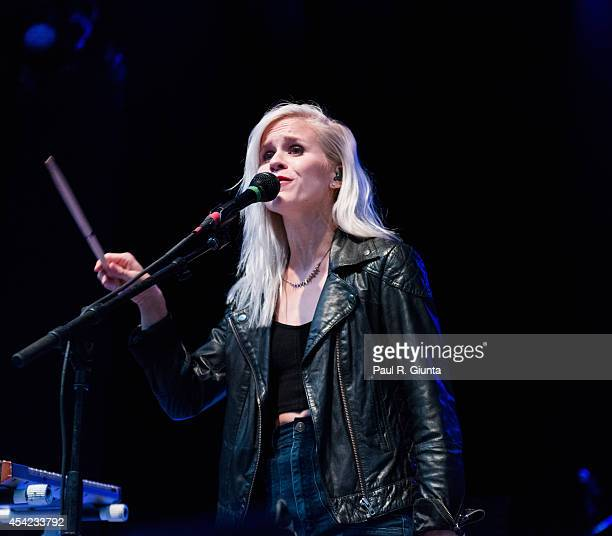 Alice Katz of Youngblood Hawke performs onstage at The Greek Theatre on August 26 2014 in Los Angeles California