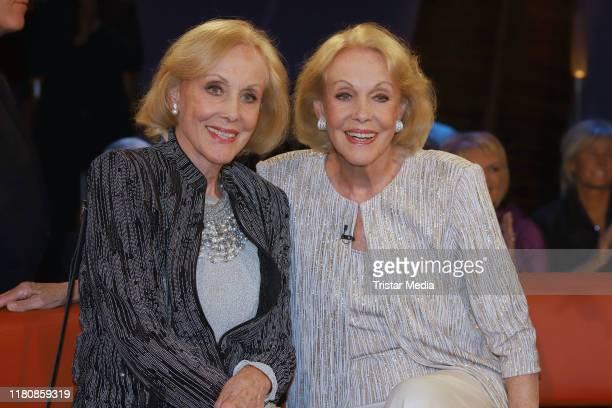 Alice Kessler and Ellen Kessler alias Kessler Zwillinge during the NDR Talk Show on October 5 2019 in Hamburg Germany