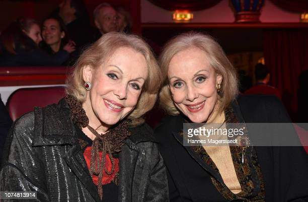 Alice Kessler and her twinsister Ellen Kessler during the Circus Krone Premiere at Circus Krone on December 25 2018 in Munich Germany