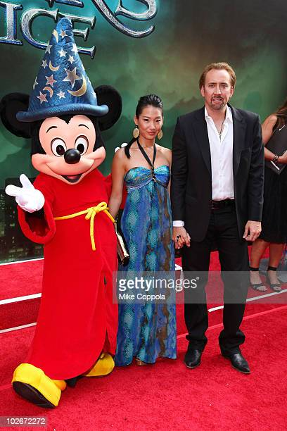 Alice Kim and actor Nicolas Cage attend the premiere of 'The Sorcerer's Apprentice' at the New Amsterdam Theatre on July 6 2010 in New York City