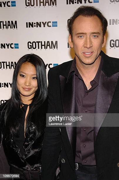 Alice Kim and Nicolas Cage during Gotham Magazine's 5th Anniversary Party at Cipriani's 23rd Street in New York City New York United States