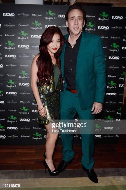 Alice Kim Cage and Nicolas Cage attend the Bungalow 8 James Franco Venice Film Festival Premiere Party for Child of God and Palo Alto during the 70th...