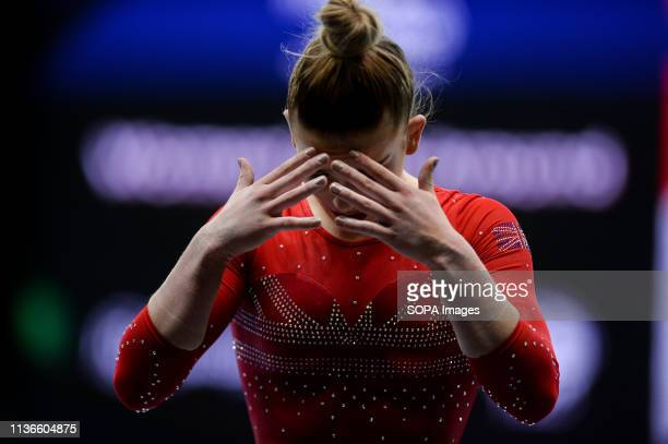 Alice Kinsella from Great Britain seen after the Women's AllAround Final of 8th European Championships in Artistic Gymnastics