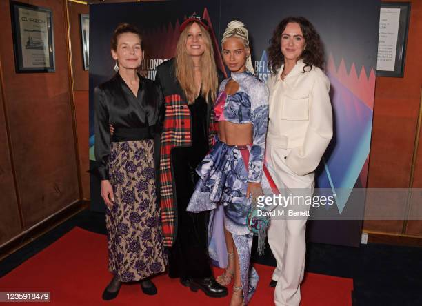 """Alice Krige, Charlotte Colbert, Kota Eberhardt and Amy Manson attend the UK Premiere of """"She Will"""" during the 65th BFI London Film Festival at the..."""
