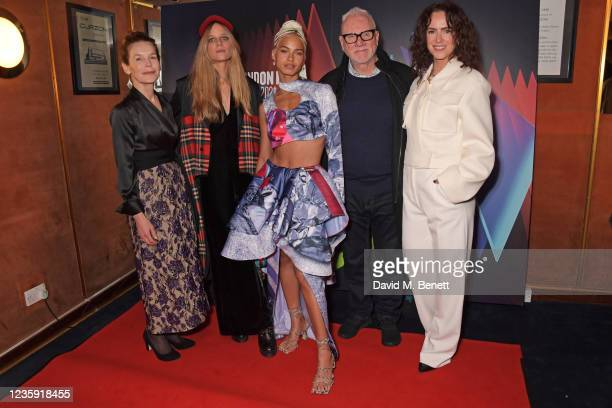 """Alice Krige, Charlotte Colbert, Kota Eberhardt, Malcolm McDowell and Amy Manson attend the UK Premiere of """"She Will"""" during the 65th BFI London Film..."""