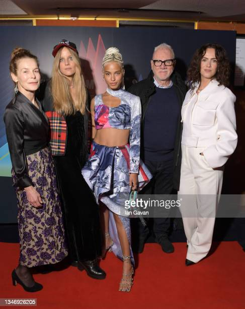 """Alice Krige, Charlotte Colbert, Kota Eberhardt, Malcolm McDowell and Amy Manson attend the """"She Will"""" UK Premiere during the 65th BFI London Film..."""