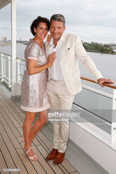 Alice Krueger and Hardy Krueger jrduring the FASHION2NIGHT event on board the EUROPA 2 on August 17 2018 in Hamburg Germany