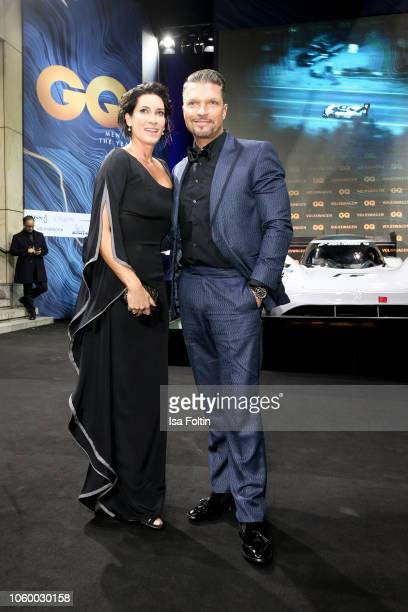 Alice Krueger and her husband German actor Hardy Krueger Jr arrive for the 20th GQ Men of the Year Award at Komische Oper on November 8 2018 in...