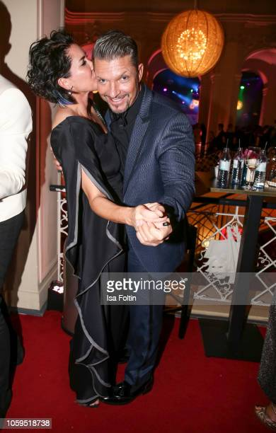 Alice Krueger and her husband German actor Hardy Krueger Jr attend the GQ Men of the Year Award after show party at Komische Oper on November 8 2018...