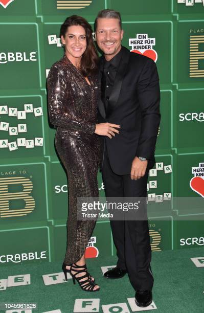Alice Krueger and her husband Hardy Krueger Jr attend the charity event PLACE TO B Playing for Charity at Restaurant GRACE on October 4 2018 in...
