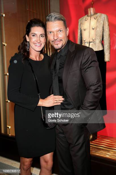 Alice Krueger and her husband Hardy Krueger Jr during the Boutique Trunk Show Giorgio's on September 13 2018 in Munich Germany